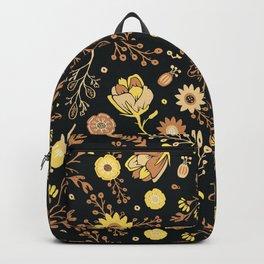 Golden Florals Backpack
