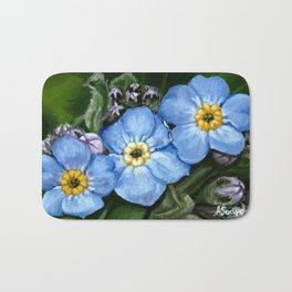 Do not forget me - azorean flora Bath Mat