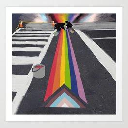 Pride crosswalk Art Print