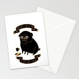 Tea Pug Stationery Cards