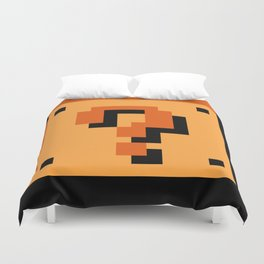 Question Block Duvet Cover