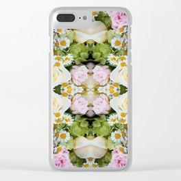 Bird Peeking On The Roses (Mandala #124b) Clear iPhone Case