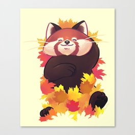 Relaxing Red Panda Canvas Print