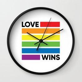 love rainbow Wall Clock