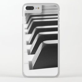 Piano Keys Clear iPhone Case