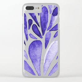 Watercolor artistic drops - electric blue Clear iPhone Case