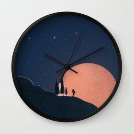 Pink Moon Wall Clock