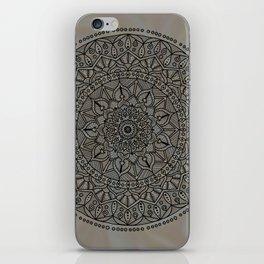 Circle of Life Mandala Brown and Blue iPhone Skin
