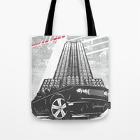 nightmare Tote Bags featuring Nightmare by Tshirt-Factory