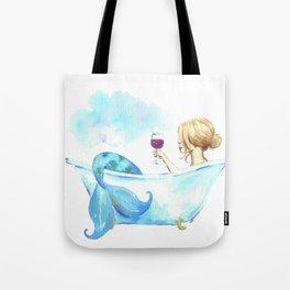 Bathtub Mermaid Tote Bag