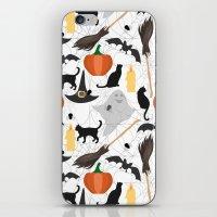 halloween iPhone & iPod Skins featuring Halloween by Julia Badeeva