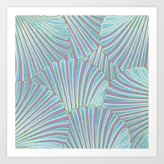 INTO THE DEEP (abstract pattern) Art Print