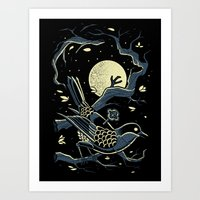 murakami Art Prints featuring wind up bird chronicle - murakami by miles to go