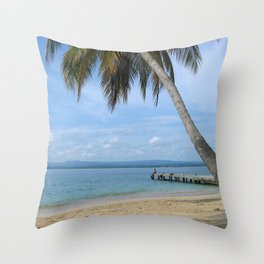 Isle of San Blas PANAMA - the Caribbeans Throw Pillow