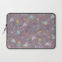 Cat mermaids under the sea. Funny elephant and unicorn kitty. Laptop Sleeve