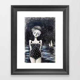 Midnight Tides Framed Art Print