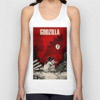 godzilla Tank Tops featuring Godzilla.  by Sinpiggyhead