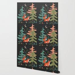 Evergreen Fox Tale Wallpaper