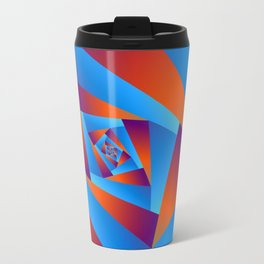 Orange and Blue Spiral Travel Mug