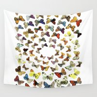 butterflies Wall Tapestries featuring Butterflies by Ben Giles