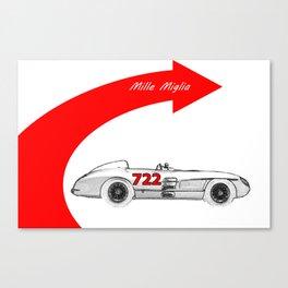 RennSport Speed Series: Mille Miglia Canvas Print