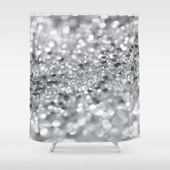 Silver Gray Lady Glitter #1 #shiny #decor #art #society6 Shower Curtain