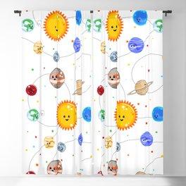Kawaii Solar System Pattern Blackout Curtain