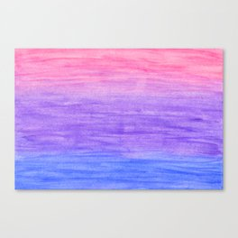 Blue, purple and pink gradient Canvas Print