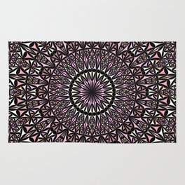 Pink Mosaic Window Mandala Rug