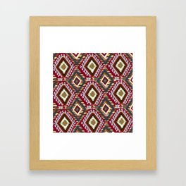 Turkish Kilim Framed Art Print