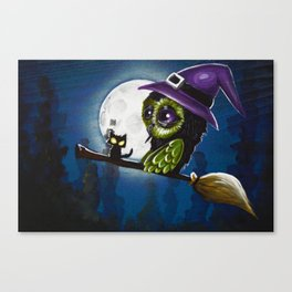 owl witch Canvas Print