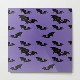 Batty purple Metal Print