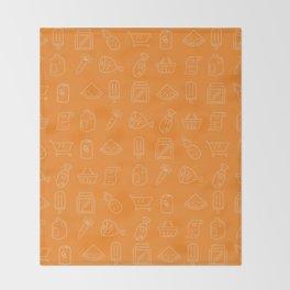 Supermarket Pattern Throw Blanket
