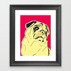 Shmoo the pug Framed Art Print