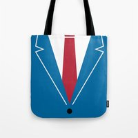 mad men Tote Bags featuring Mad Men by Zhi-Yun