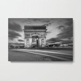 PARIS Arc de Triomphe | monochrome Metal Print