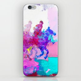 poloplayer abstract redblue iPhone Skin