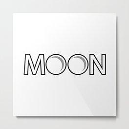 Moon  creative design Metal Print