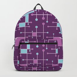 Intersecting Lines in Purple, Pink and Blue Backpack