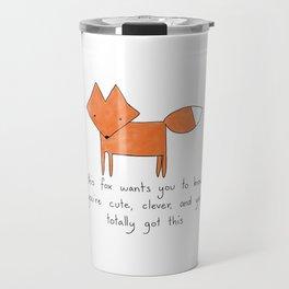 Enthusiastic Fox Travel Mug
