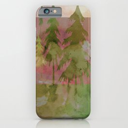 Forest Watercolor iPhone Case