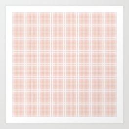 Spring 2017 Designer Color Pale Pink Dogwood Tartan Plaid Check Art Print