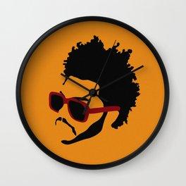 blinding lights: yellow Wall Clock