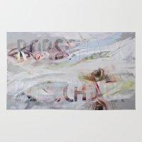 rorschach Area & Throw Rugs featuring RORSCHACH by Rosalind Breen