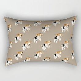 Beagle Pattern Rectangular Pillow