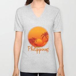 Sunset Philippines Unisex V-Neck