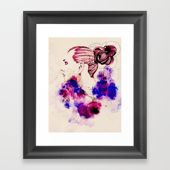 Fashion Illustration Framed Art Print
