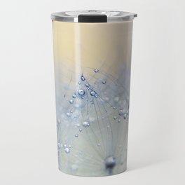 ice blue dandelion Travel Mug