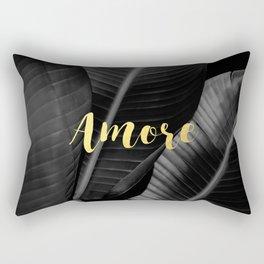 Love (amore) gold - bw banana leaf Rectangular Pillow