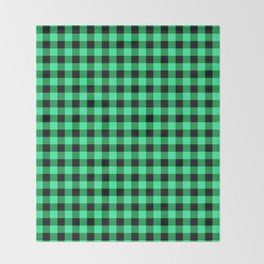 Green and black tartan plaid. Throw Blanket